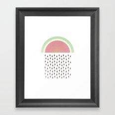 Raining Seeds Framed Art Print