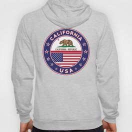 California, California t-shirt, California sticker, circle, California flag, white bg Hoody
