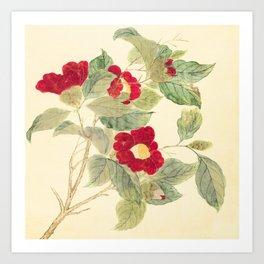 Red flowers , red flowers Art Print