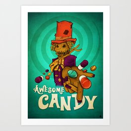 Awesome candy Art Print