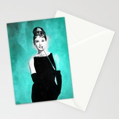 Audrey Hepburn in a Tiffany collection Stationery Cards