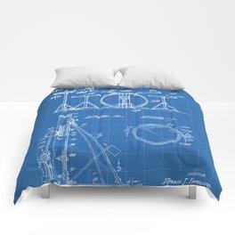 Drum Set Patent - Drummer Art - Blueprint Comforters