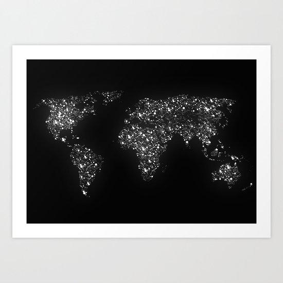 Tiny light spec in the great big universe Art Print