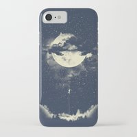iPhone Cases featuring MOON CLIMBING by los tomatos
