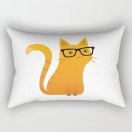 Cute cat with sunglasses Rectangular Pillow