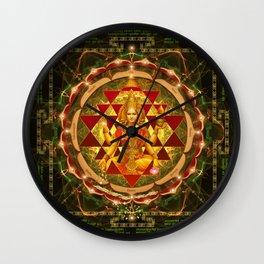 Shri Yantra- Maha Lakshmi Ashtakam- Abundance Wall Clock