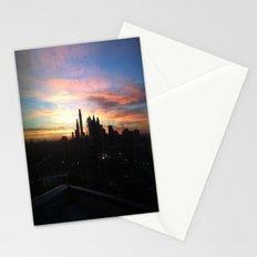 Sunset Skyline Stationery Cards