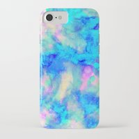 iPhone Cases featuring Electrify Ice Blue by Amy Sia