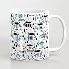 Retro coffee cups teal Coffee Mug