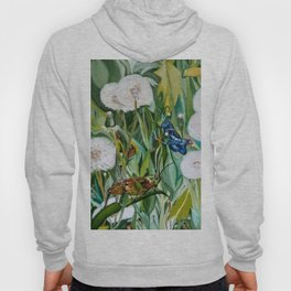 Grasshoppers and Dandelions (Oil Painting) Hoody