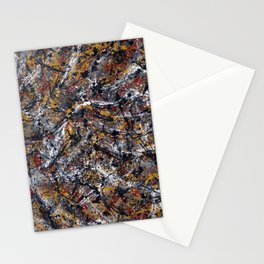Number 2 Abstract Painting by Mark Compton Stationery Cards