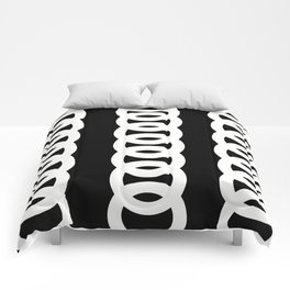 BLACK AND WHITE CiRCLES PATTERN Comforters
