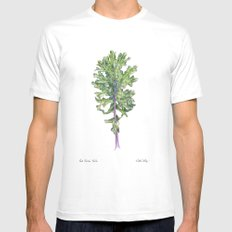 Red Russian Kale MEDIUM White Mens Fitted Tee