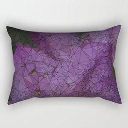 Low Poly Purple Azalea Flowers Rectangular Pillow