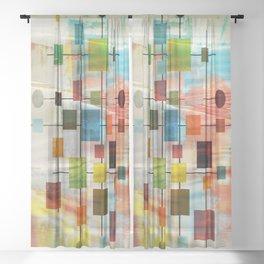 MidMod Graffiti 4.0 Sheer Curtain