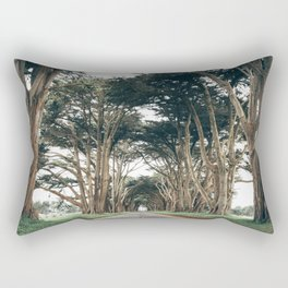 Cypress Tree Tunnel Rectangular Pillow