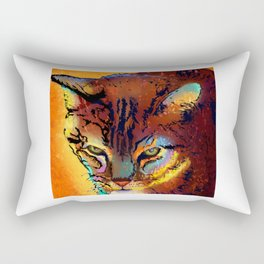 Bright Tabby Cat Rectangular Pillow