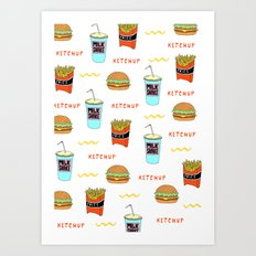 Burger Print Art Print