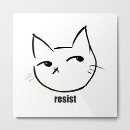 Resist kitty Metal Print