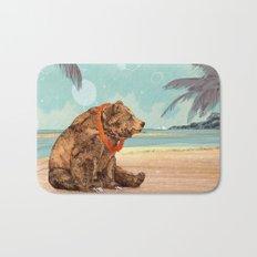 Beach Bear Bath Mat