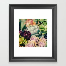 Cacti And Succulents I Framed Art Print