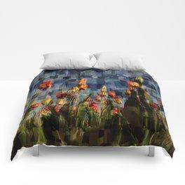 Champ de Tulipes Mosaïque Comforters