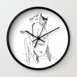 saliva and slime Wall Clock