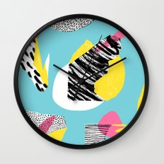 Modern living with lagoon view Wall Clock