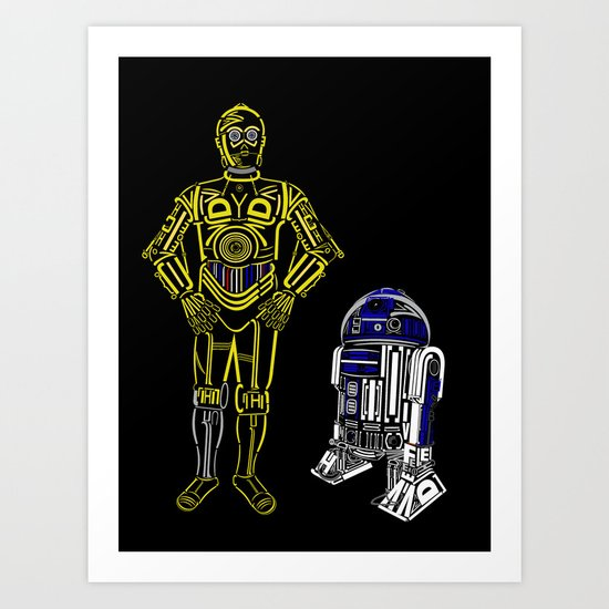 C3TYPO and R2TYPO Art Print