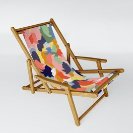 Bright Paint Blobs Sling Chair