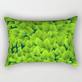 Green leaves pattern Rectangular Pillow