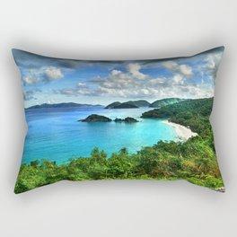 Caribbean Beach Trunk Bay, St. John Rectangular Pillow