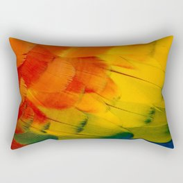 Texture: Colorful Parrot Feathers Rectangular Pillow