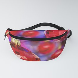 Red Christmas decoration balls Fanny Pack