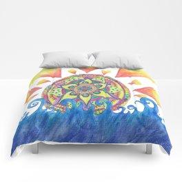 Mandala Sunrise Comforters