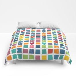 City Blocks - Subtle Rainbow #453 Comforters
