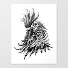 Ornately Decorated Rooster Canvas Print