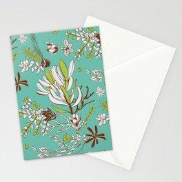 Teal Cradle Flora Stationery Cards