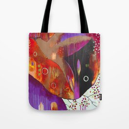 """""""Reflect You"""" Original Painting by Flora Bowley Tote Bag"""