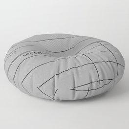 Library Card BSS 28 Gray Floor Pillow