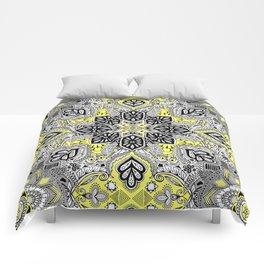 Boho Sunshine Medallion Pattern Comforters