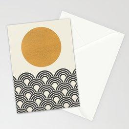 Sun & Wave - Oriental Pattern Stationery Cards