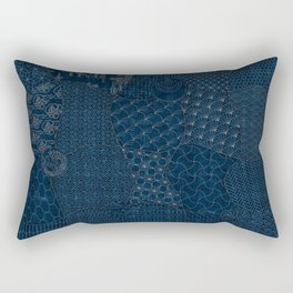 Sashiko - random sampler Rectangular Pillow