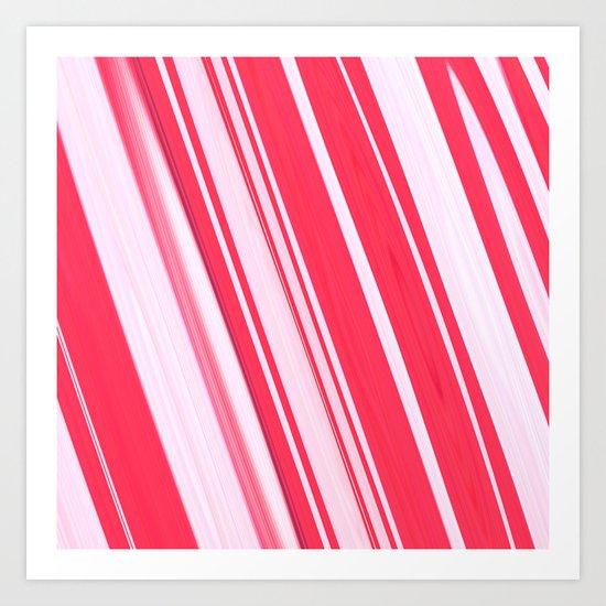 Peppermint Stick Art Print