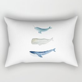 Whale Squad Rectangular Pillow