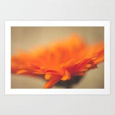 Orange Sun Art Print