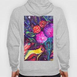 CRAZY BIRDS AND CRAZY FLOWERS Hoody