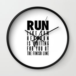 RUN LIKE SAM HEUGHAN Wall Clock