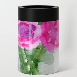 Peonies in a Vase Can Cooler