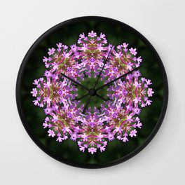 Constellation of Verbena flowers mandala Verbena bonariensis 1829 k2 Wall Clock